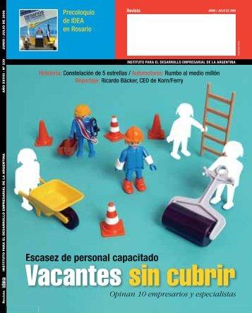 Vacantes sin cubrir - Diseño Gráfico Ribeiro