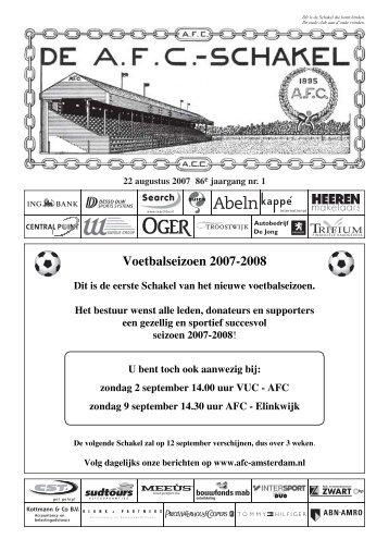 22 augustus 2007 86e jaargang nummer 1 - AFC, Amsterdam