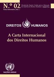 A Carta Internacional dos Direitos Humanos