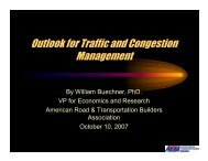 Outlook for Traffic and Congestion Management