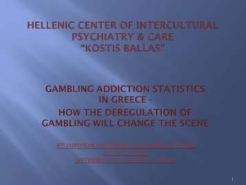 Gambling addiction statistics in Greece. How deregulation of ...