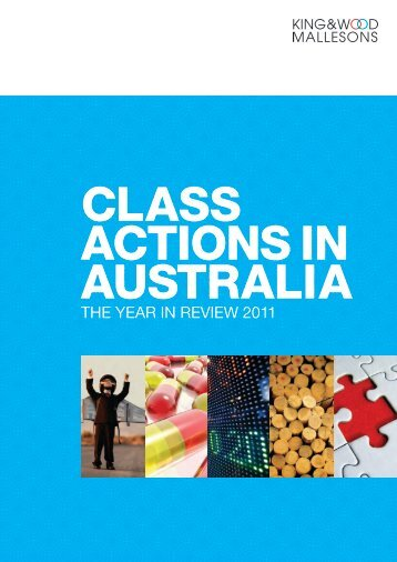 Class Actions – the year in review 2011 - Mallesons