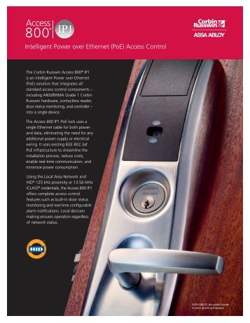 (PoE) Access Control - ASSA ABLOY Door Security Solutions ...