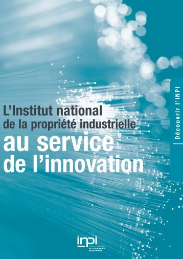 "Brochure ""L'innovation"" - Inpi"