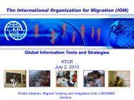 Tools for addressing integration challenges - IOM Geneva - EU ...