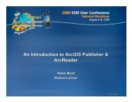 An Introduction to ArcGIS Publisher and ArcReader