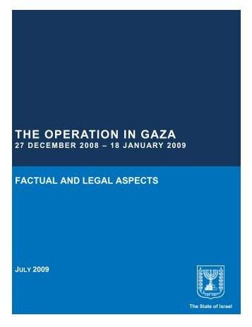 The Operation in Gaza - Jewish Virtual Library