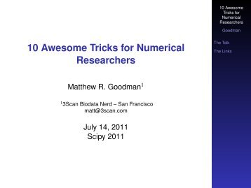 10 Awesome Tricks for Numerical Researchers