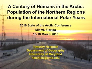 Download PDF (5.19 MB) - State of the Arctic 2010