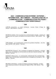 communication interne / externe – information – multimédia - Celsa