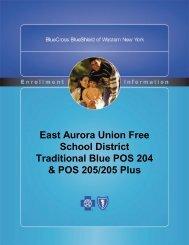 Blue Cross/Blue Shield benefit book - East Aurora Union Free School