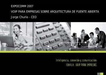 """Jorge Felipe Churio - CEO de FONALIX """"VoIP para ... - CICOMRA"""