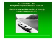 DANUBEPARKS - WP4 Flood plain management and habitat ...