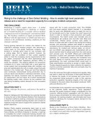 Case Study – Medical Device Manufacturing - Helix Medical