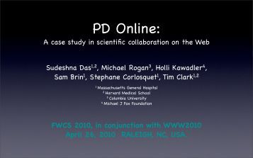 A case study in scientific collaboration on the Web Sudeshna Das1 ...