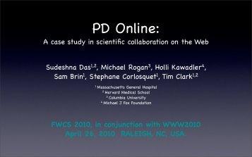 A case study in scientific collaboration on the Web Sudeshna Das1 ...