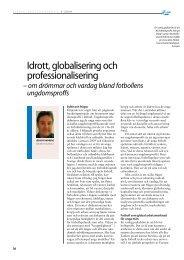 Idrott, globalisering och professionalisering (2009) - GIH
