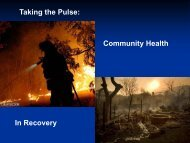Taking the Pulse: Community Health In Recovery - The 2012 ...