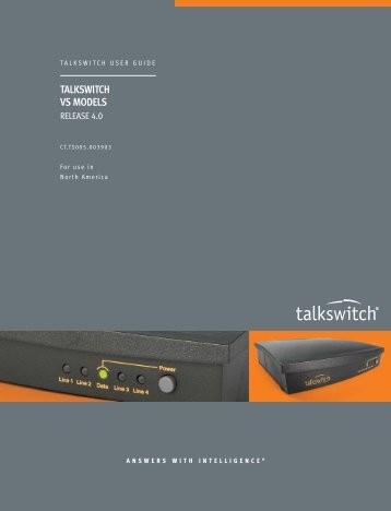 TalkSwitch VS User Guide — NA - Product Reviews - corded headsets