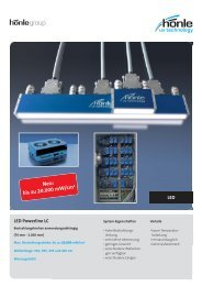 Produktinformation LED Powerline LC - Dr. Hönle AG