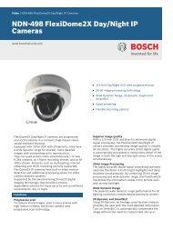 NDN-498 FlexiDome2X Day/Night IP Cameras - Bosch Security ...