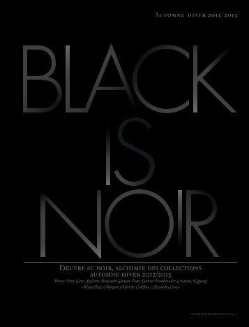 L'œuvre au noir, alchimie des collections automne-hiver 2012/2013
