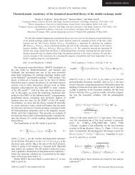 Thermodynamic consistency of the dynamical mean-field theory of ...