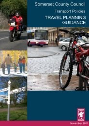 Travel Planning and Guidance - Moving Somerset Forward