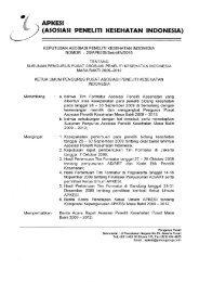 SK Apkesi - Badan Litbangkes
