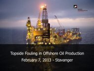 Topside Fouling in Offshore Oil Production ... - f.metal-supply.dk