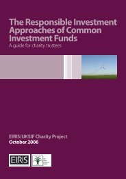 The Responsible Investment Approaches of Common ... - Eiris