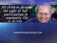 Children and Youth Mental Health - Offord Centre for Child Studies