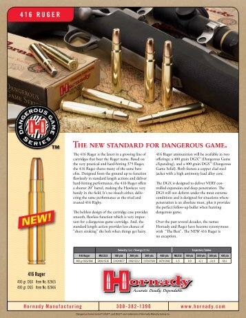 The new standard for dangerous game. - Hornady.com