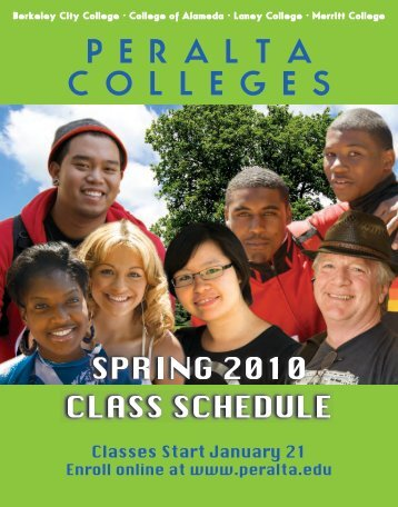 Download Spring Class Schedule 2010 - Peralta Colleges