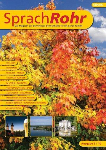 Ausgabe 3/10 PDF herunterladen - Servicehaus Sonnenhalde