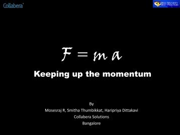 F = ma, Keeping up the Momentum - QAI