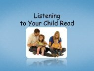 PPT - Listening to Your Child Read