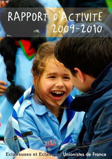 Rapport d'activité 2009-2010 - Eclaireuses et Eclaireurs Unionistes ...