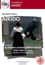 Scarica la borochure dettagliata... - Accademia di Aikido