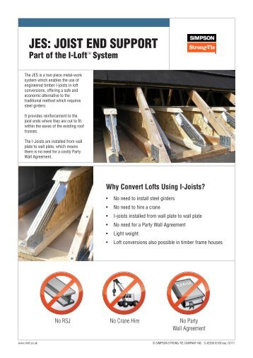 JES: JOIST END SUPPORT - Simpson Strong-Tie