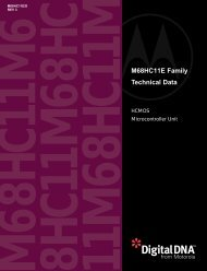 M68HC11E Family Technical Data