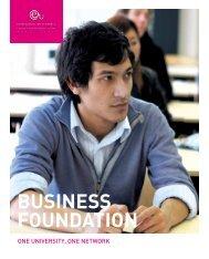 BUSINESS FOUNDATION - European University