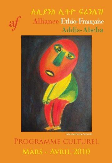 Programme de mars - avril 2010 - Alliance éthio-française d'Addis ...
