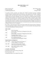 Orlando Visbal CV - Analysis Group