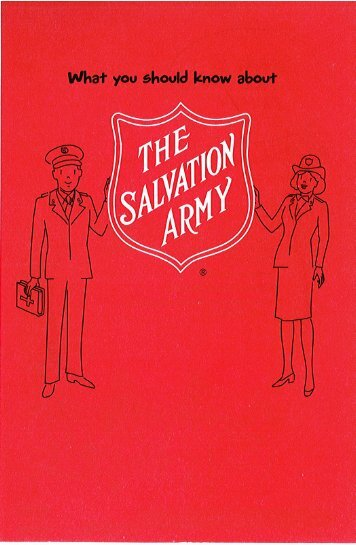 What You Should Know.pdf - The Salvation Army USA (Southern ...