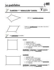 Les quadrilatères quadrilatères quadrilatères - Instit90