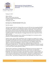 AFR Sign-on Letter to CFPB - Americans for Financial Reform