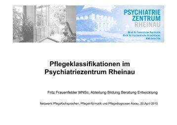 Pflegeklassifikation in Rheinau - Netzwerk Pflegediagnosen