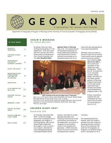 geoplan - the Department of Geography & Program in Planning ...