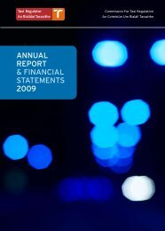 Annual Report 2009 - National Transport Authority